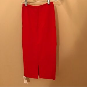 NWT American apparel red pencil skirt